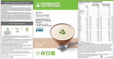 Herbalife Formula 1 Gourmet Gusto crema di funghi
